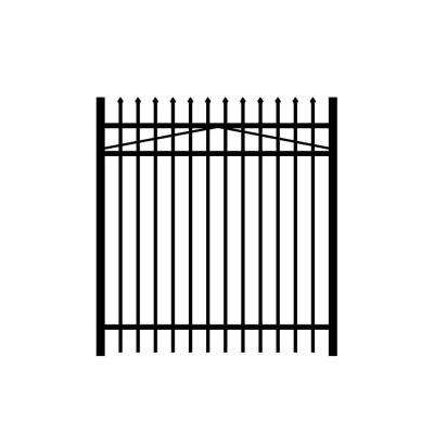 Washington 5 ft. W x 5 ft. H Black Aluminum 3-Rail Fence Gate