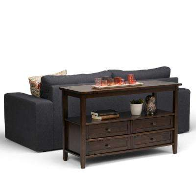 Warm Shaker Tobacco Brown Storage Console Table
