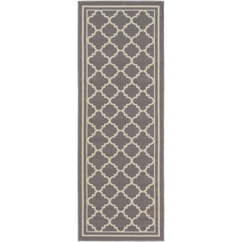 Ianjica Gray 3 ft. x 7 ft. Indoor/Outdoor Runner Rug