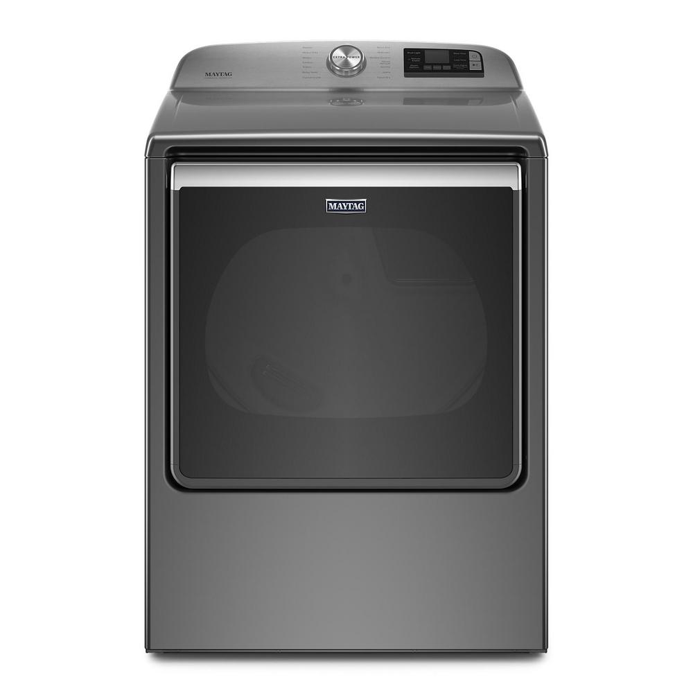 Maytag 8.8 cu. ft. 240-Volt Smart Capable Metallic Slate Electric Vented Dryer with Steam, ENERGY STAR