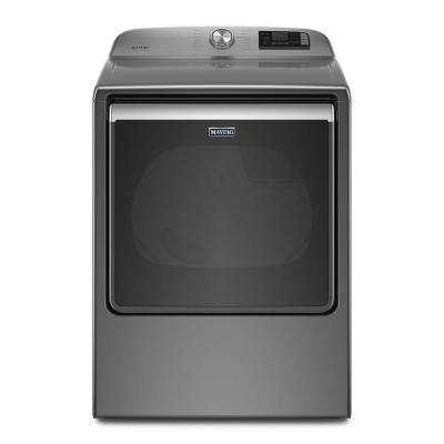 8.8 cu. ft. 240-Volt Smart Capable Metallic Slate Electric Vented Dryer with Steam, ENERGY STAR