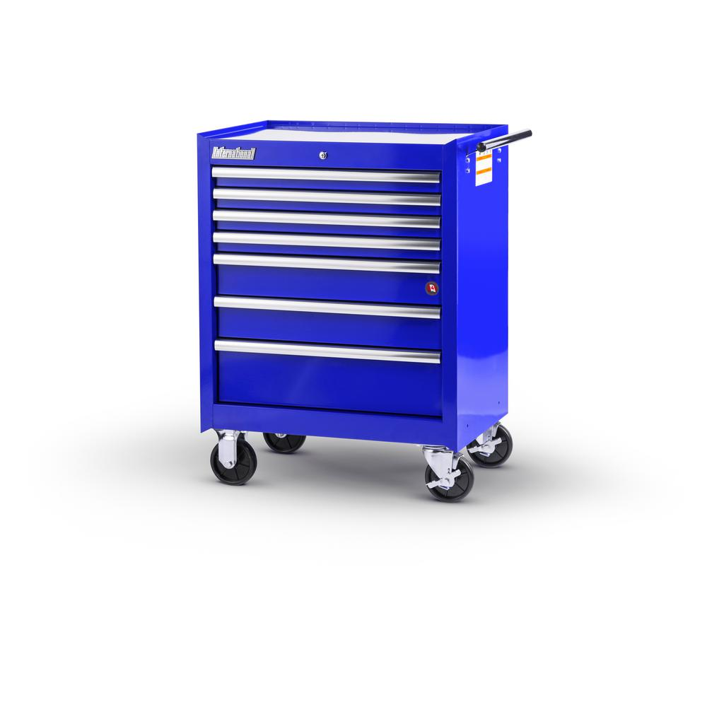 Tech Series 27 in. 7-Drawer Roller Cabinet Tool Chest in Blue
