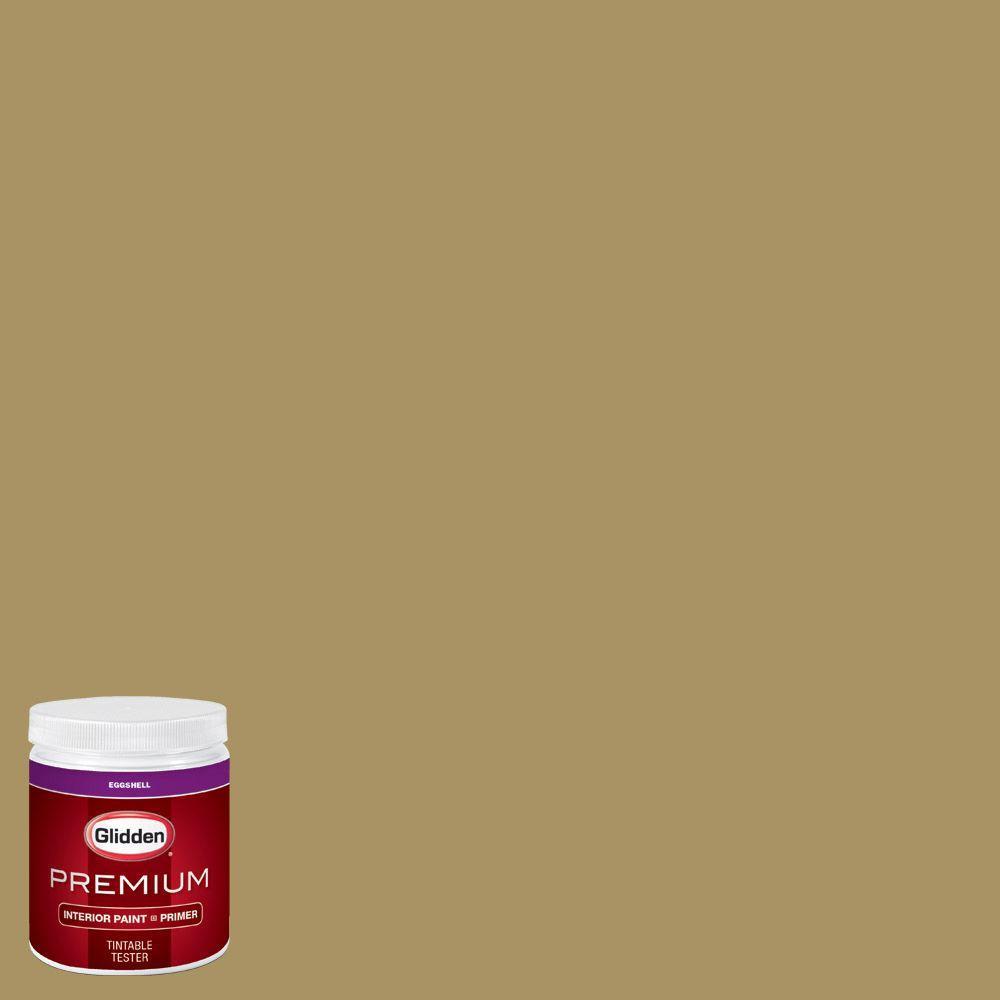 Glidden Premium 8 Oz Hdgy65 Teagreen Eggshell Interior Paint With Primer Tester Hdgy65p 08en