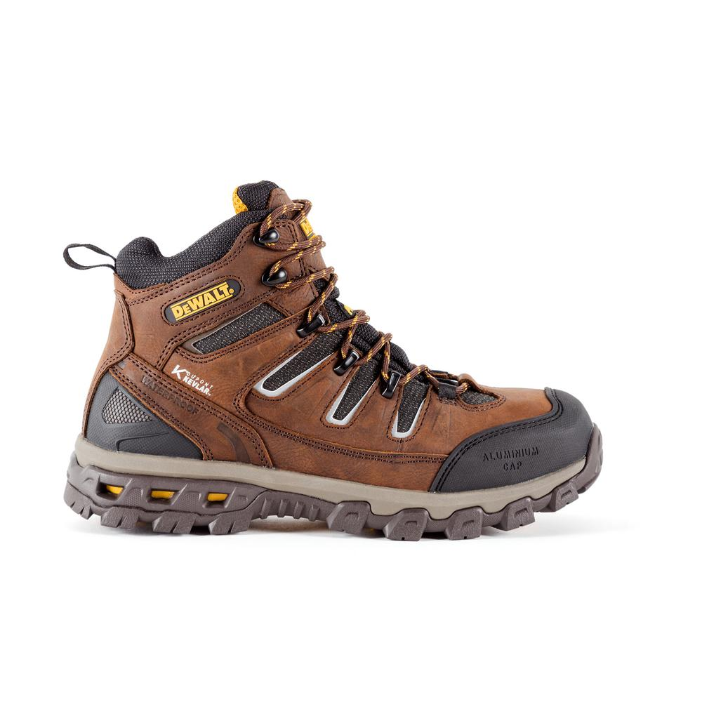 5d501ab3a47f Argon Men s Size 9(W) Brown Kevlar Leather Puncture Resistant Aluminum Toe  Waterproof 5.5 in. Work Boot