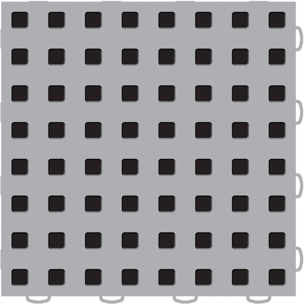 TechFloor 12 in. x 12 in. Grey/Black Vinyl Flooring Tiles (Quantity