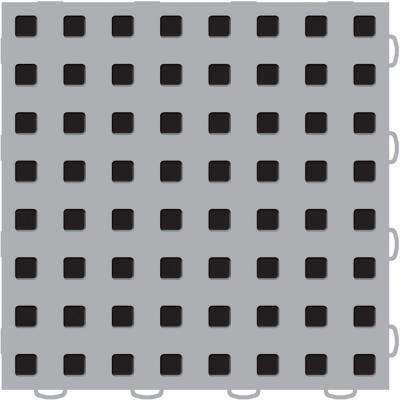 TechFloor 12 in. x 12 in. Grey/Black Vinyl Flooring Tiles (Quantity of 10)