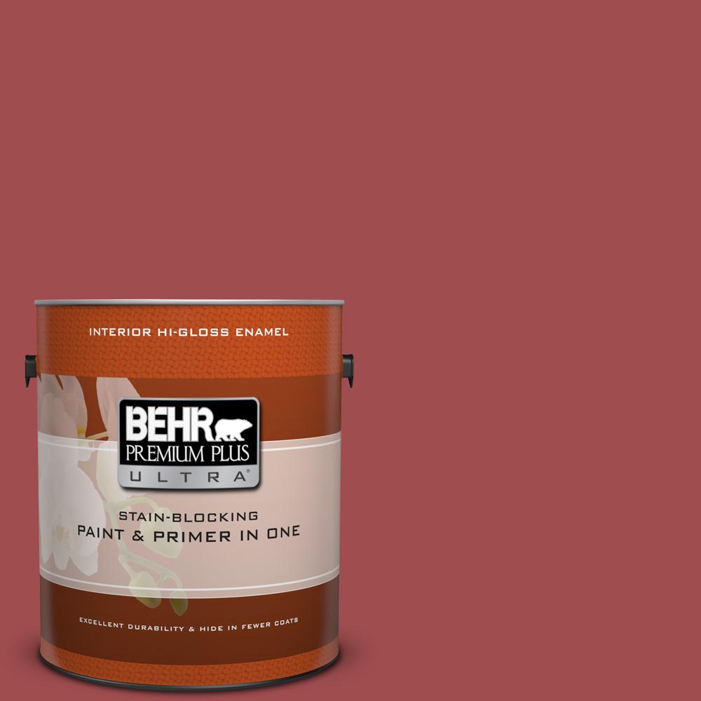 1 gal. #M150-7 Sweet Cherry Hi-Gloss Enamel Interior Paint
