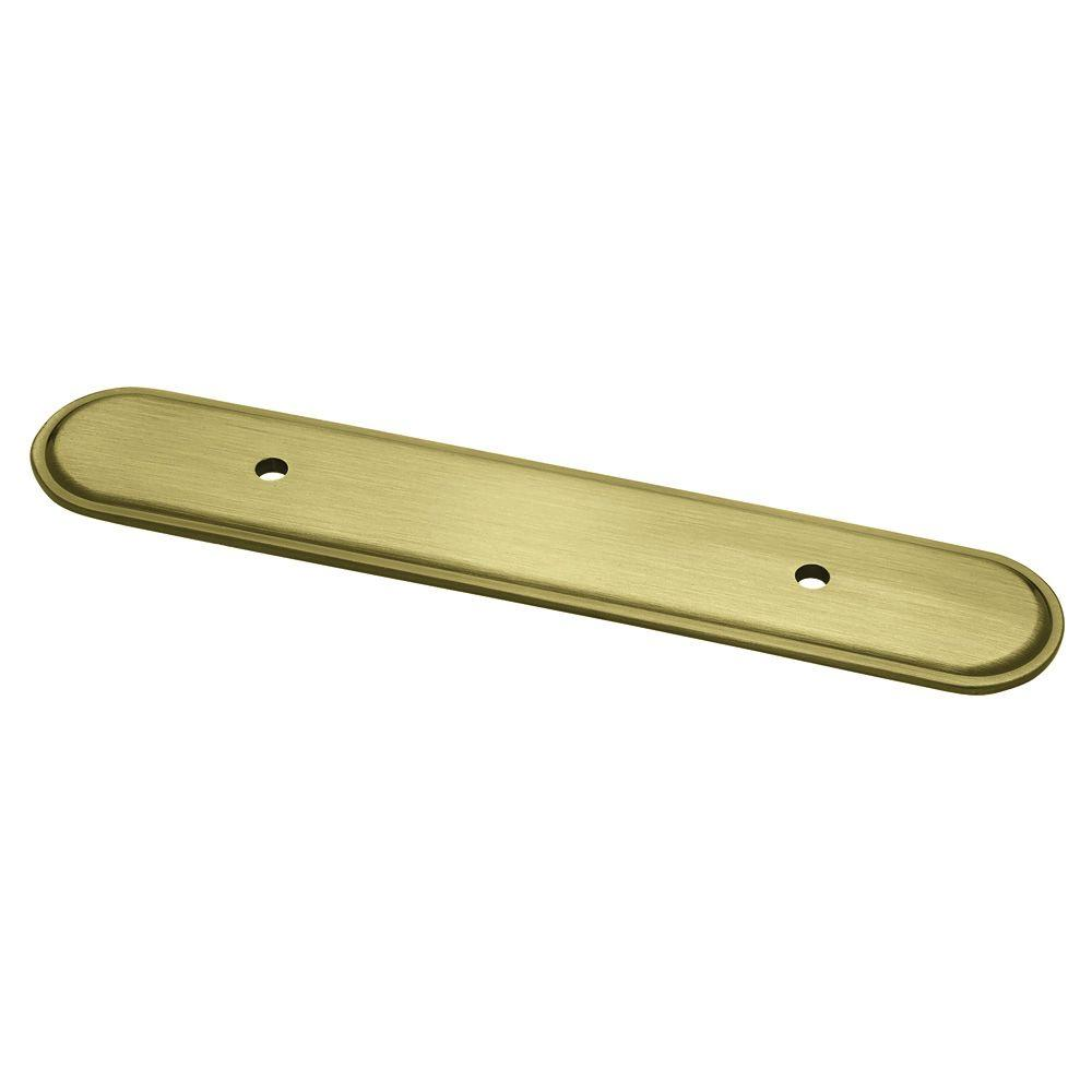 Liberty 3 in. Antique Brass Oval Cabinet Pull Backplate