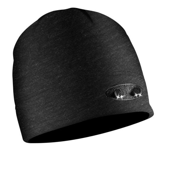 POWERCAP LED Beanie Cap 35/50 Ultra-Bright Hands Free LED Lighted Battery Powered Headlamp Hat - Black Fleece