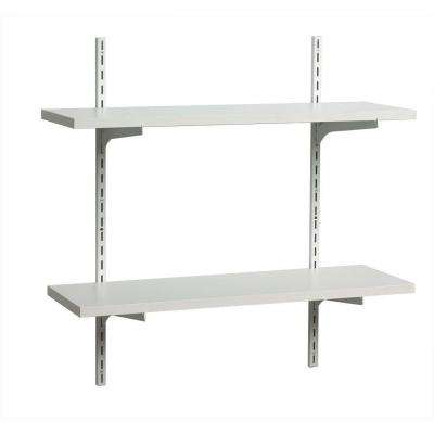 8 in. x 24 in. White Standards and Brackets Decorative Shelf Kit