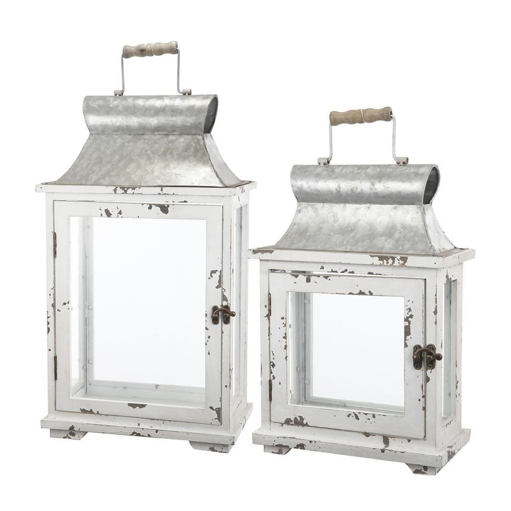 Evelyn Silver Lanterns (Set of 2)