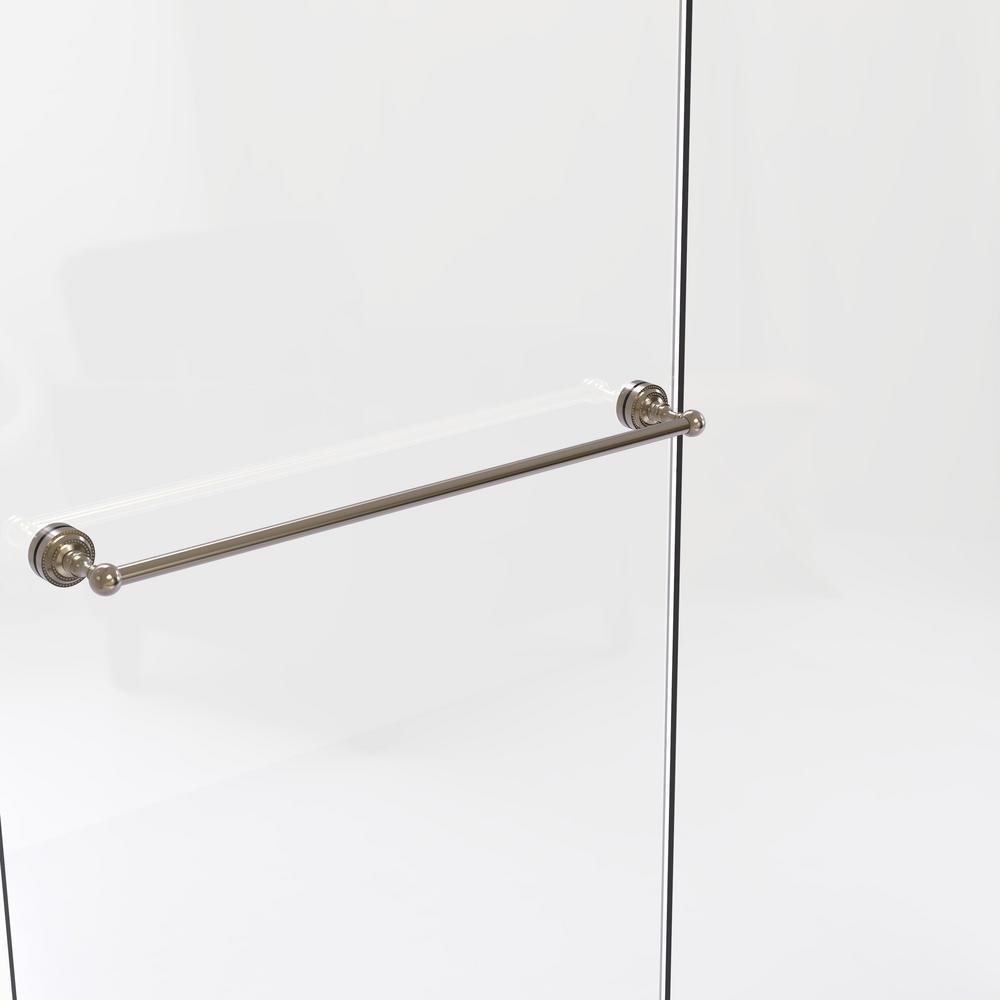 Dottingham Collection 30 in. Shower Door Towel Bar in Antique Pewter