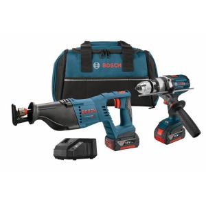 Bosch 18-Volt Lithium-Ion Cordless Drill/Driver and Reciprocating Saw Power Tool Combo Kit (2-Tool) by Bosch