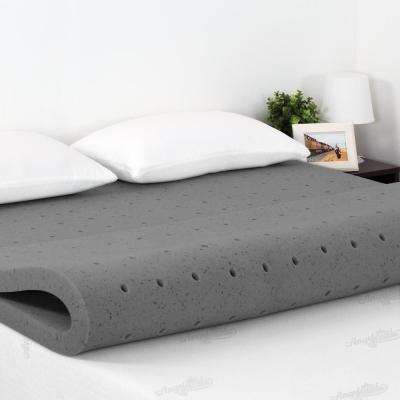 Angeland 2 in. Queen Size Bamboo Charcoal Memory Foam Topper