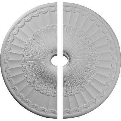 36-5/8 in. O.D. x 3-5/8 in. I.D. x 2-3/8 in. P Galveston Ceiling Medallion (2-Piece)