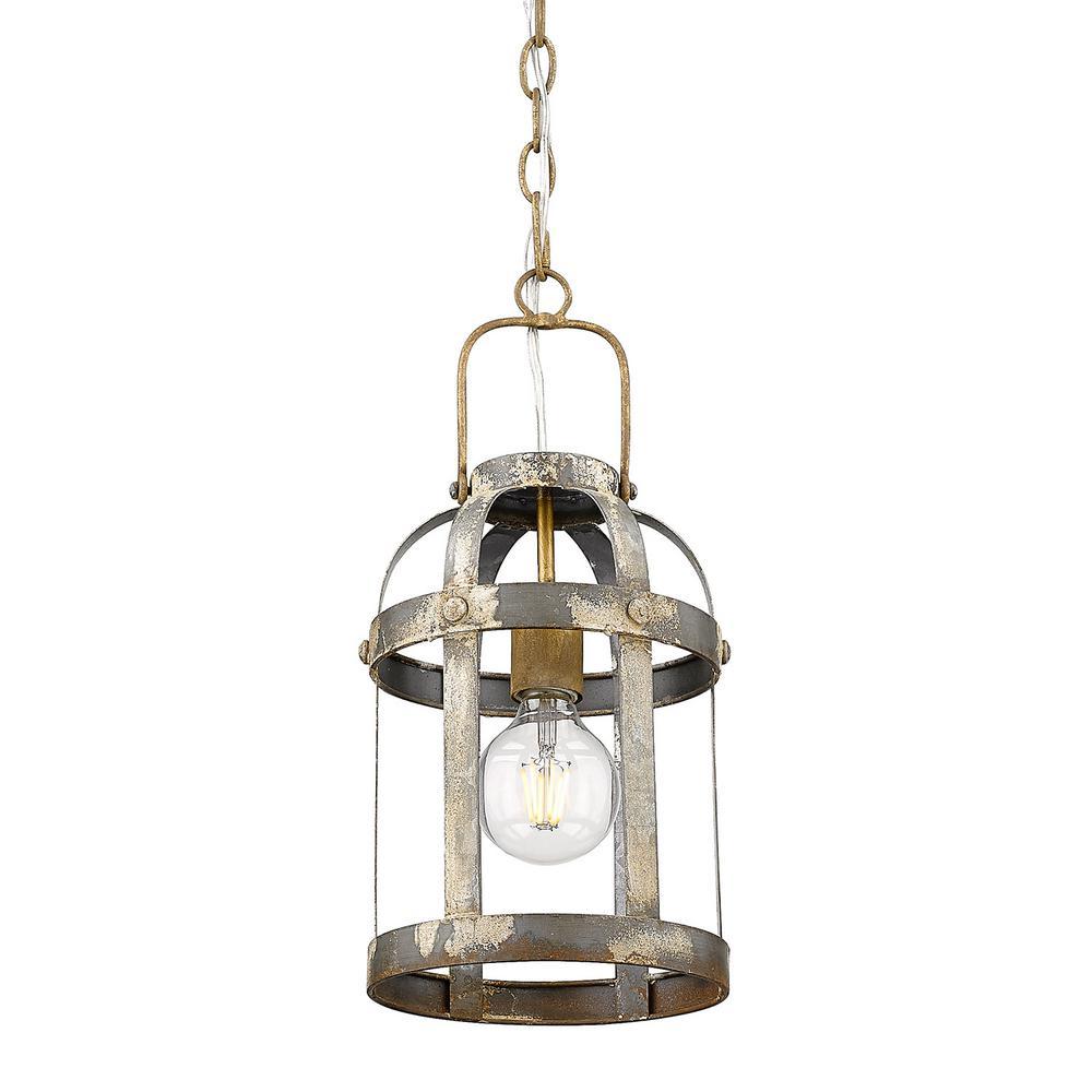 Bavaria 1-Light Colonial Steel Lantern Pendant