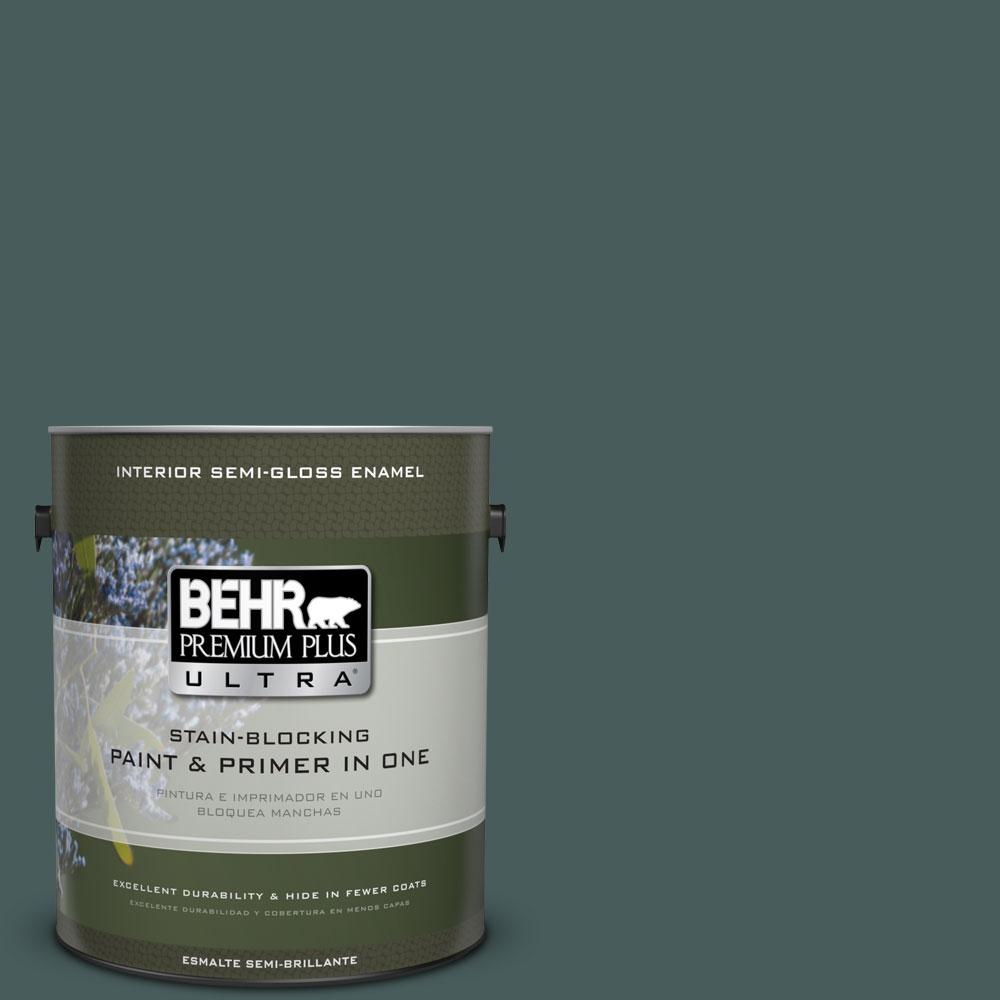BEHR Premium Plus Ultra 1-gal. #N430-7 Silken Pine Semi-Gloss Enamel Interior Paint