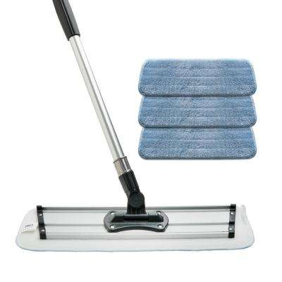 Microfiber Mop Kit Includes Mop Frame and 3 Microfiber Pads