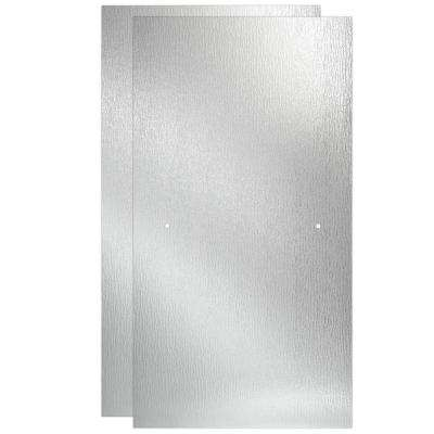 60 in. Sliding Bathtub Door Glass Panels in Rain (1-Pair)