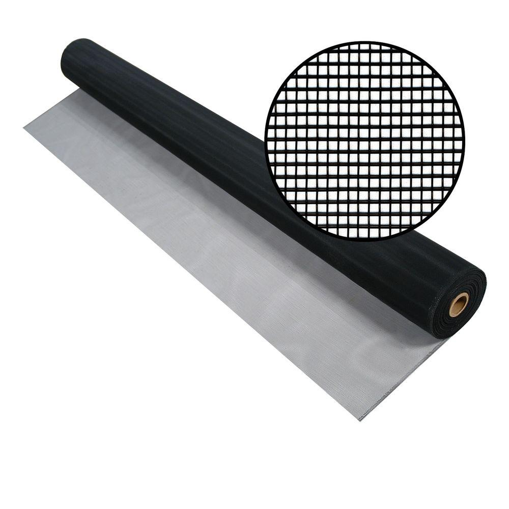 60 in. x 100 ft. Charcoal Aluminum Screen (Tube)