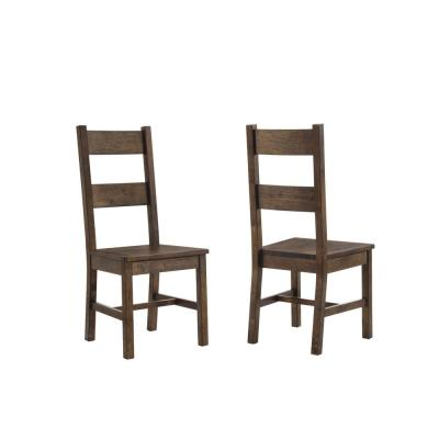 Coleman Dining Side Chairs Rustic Golden Brown (Set of 2)