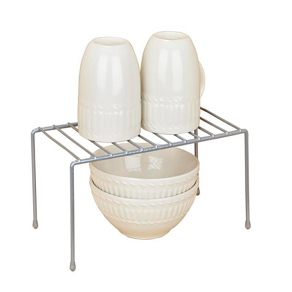Kitchen Details Grey Small Kitchen Shelf Organizer 24122 Grey The Home Depot