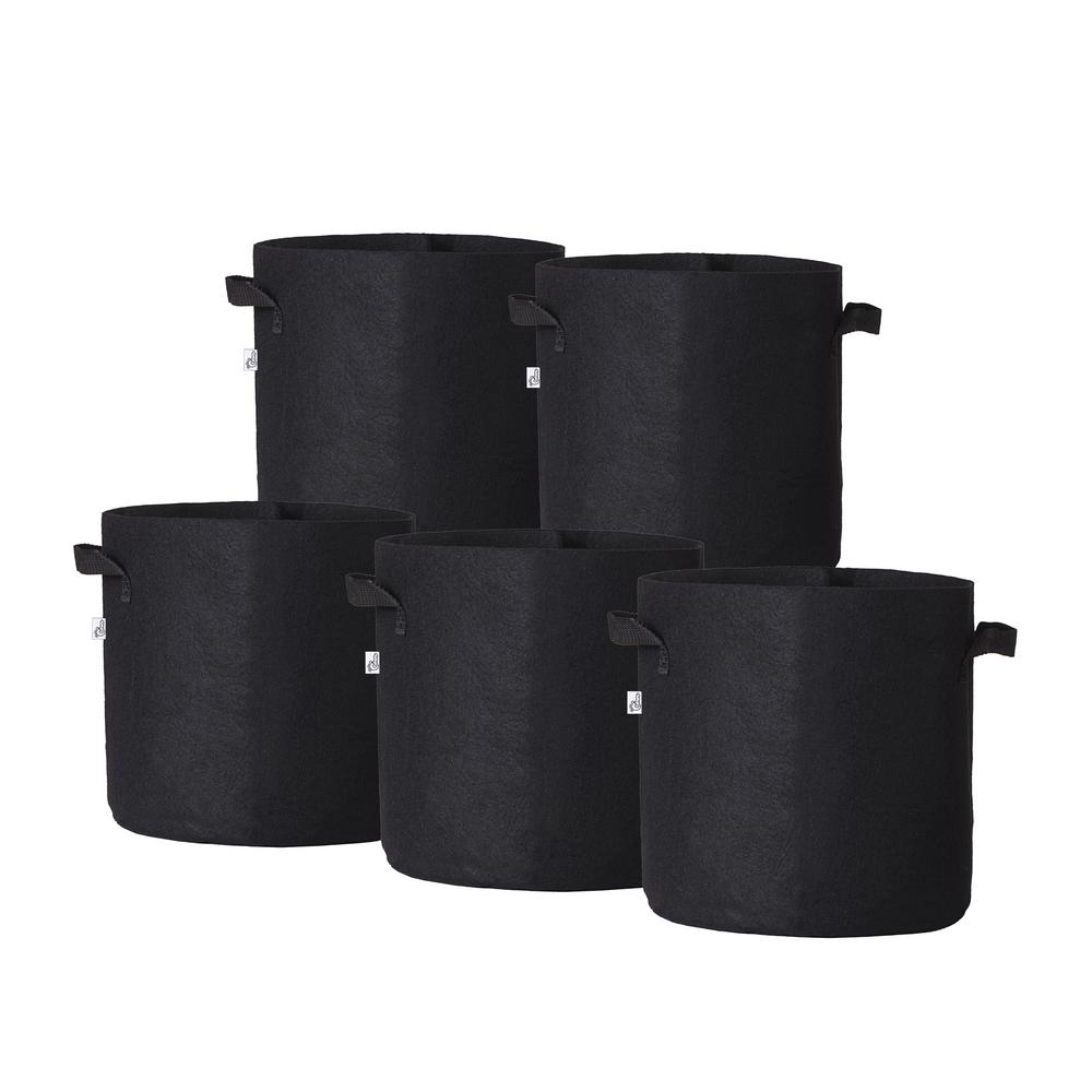 11.25 in. x 10.5 in. 5 Gal. Breathable Fabric Pot Bags