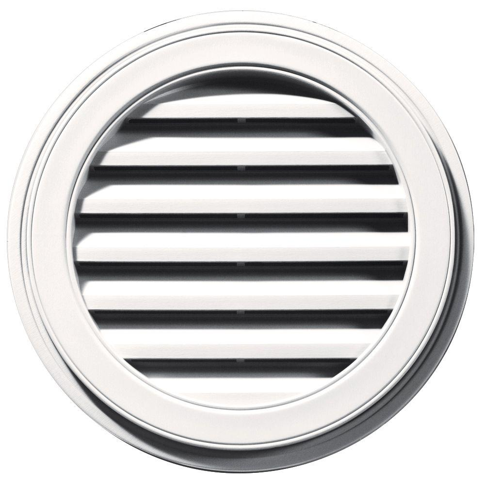 22 in. Round Gable Vent in Bright White