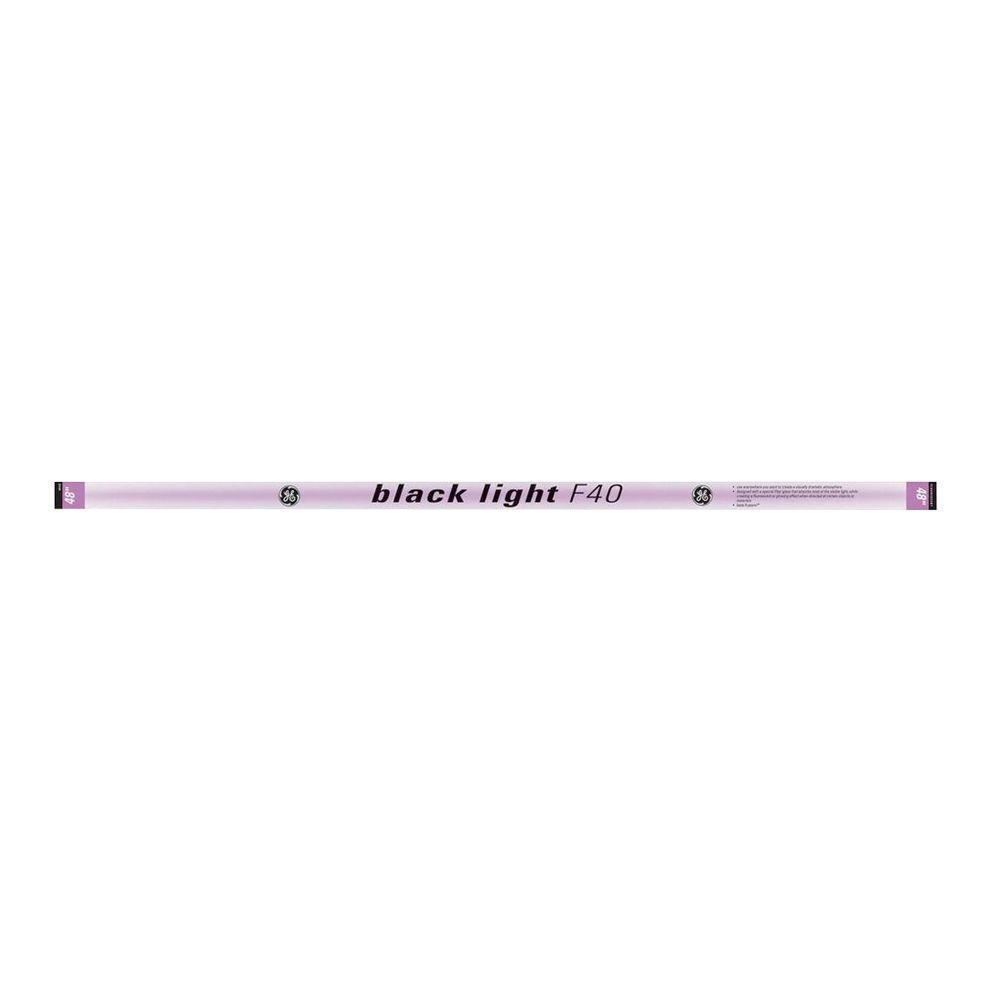 GE 4 ft. T12 40-Watt Black Light Linear Fluorescent Light Bulb