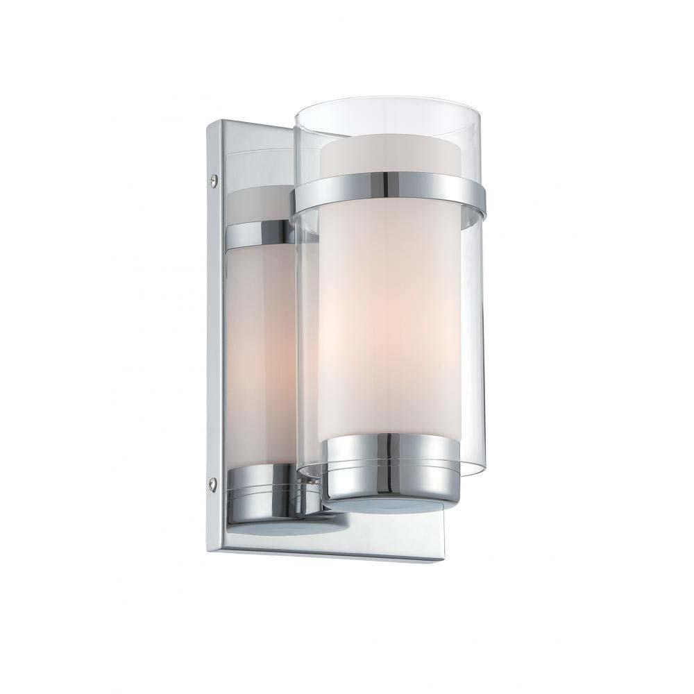 1-Light Polished Chrome Wall Sconce