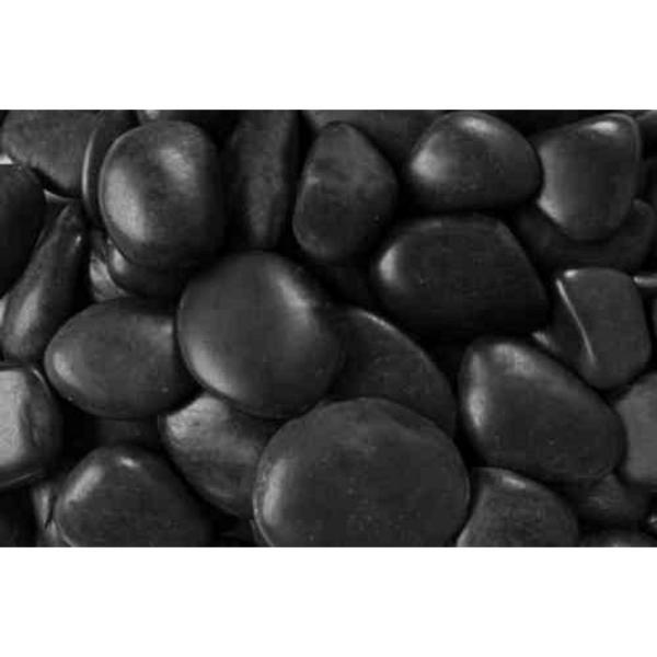 0.25 cu. ft. 2 in. to 3 in. 20 lbs. Black Grade A Polished Pebbles (108-Pack Pallet)