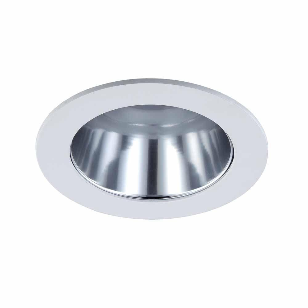 Commercial electric 4 in chrome recessed reflector trim hbr202clr chrome recessed reflector trim arubaitofo Image collections