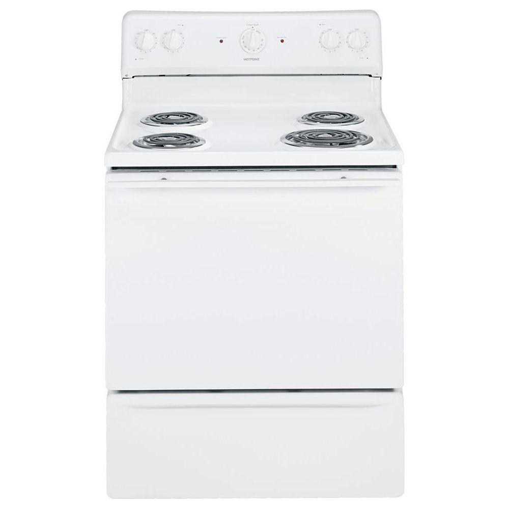 Hotpoint 5.0 cu. ft. Electric Range in White