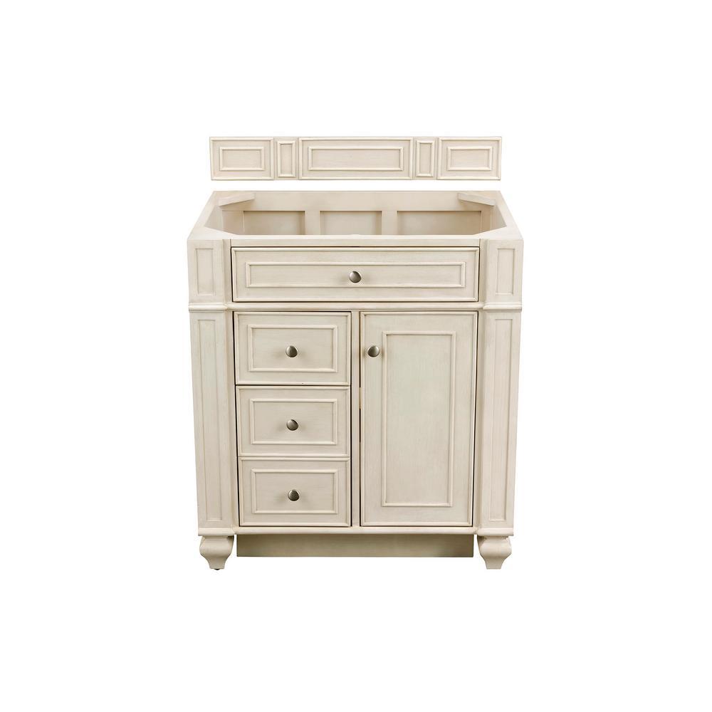 Bristol 30 in. W Single Vanity Cabinet Only in Vintage Vanilla