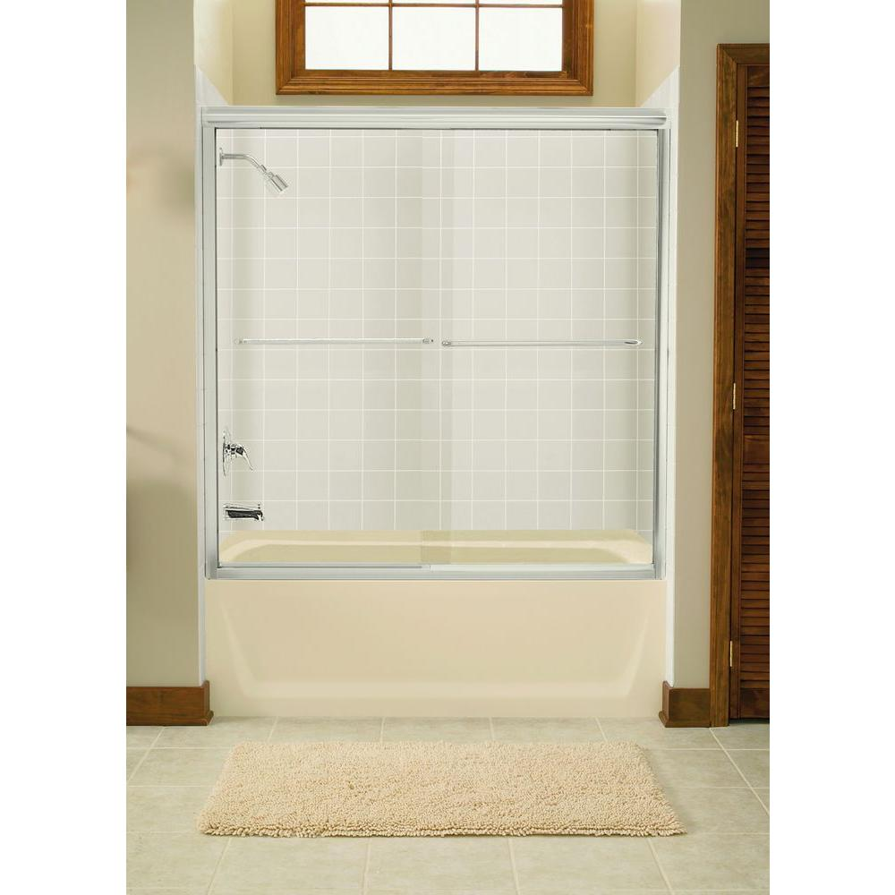 STERLING Finesse 59-5/8 in. x 58-1/16 in. Semi-Frameless Sliding ...