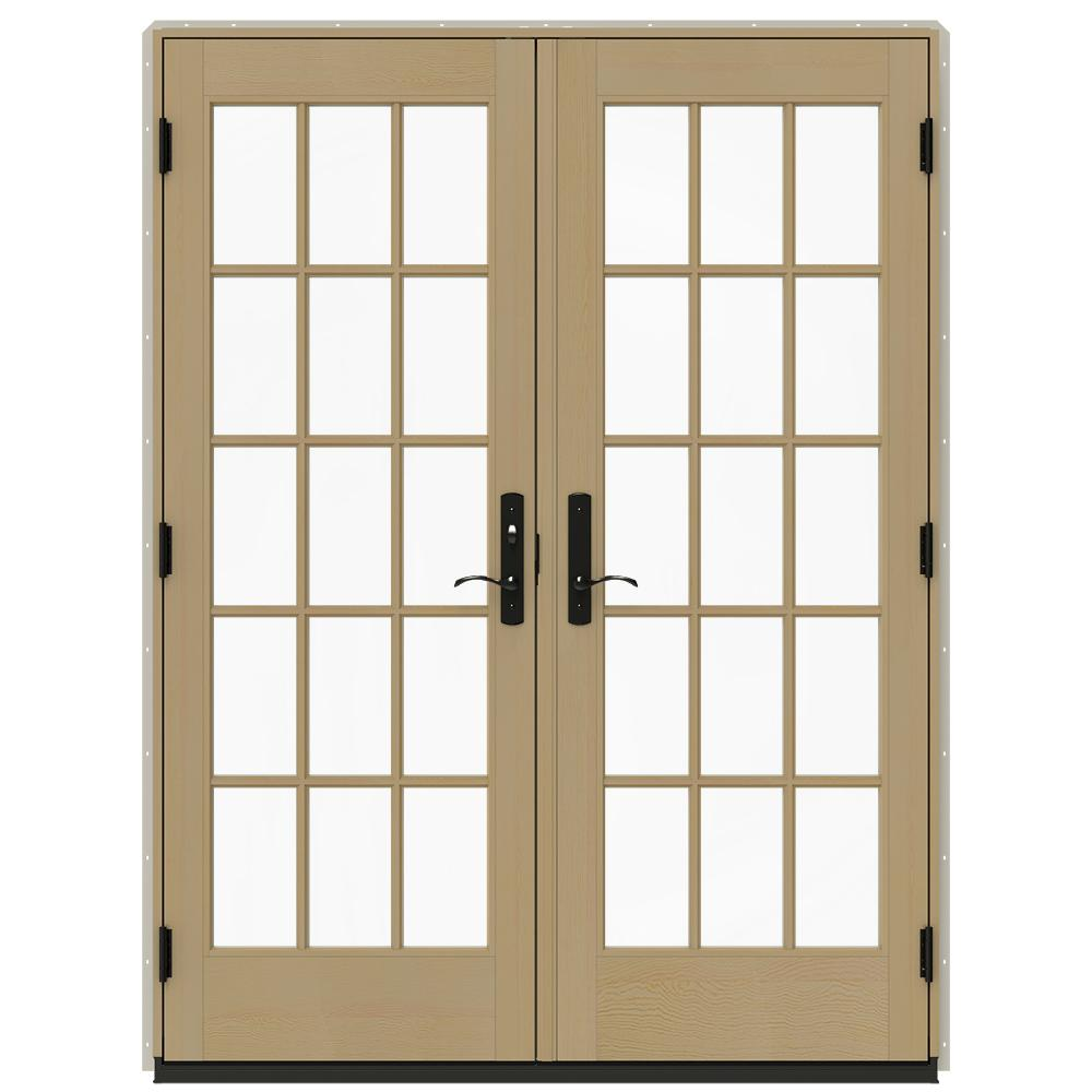jeld wen 60 in x 80 in w 4500 desert sand prehung - 60 Patio Door