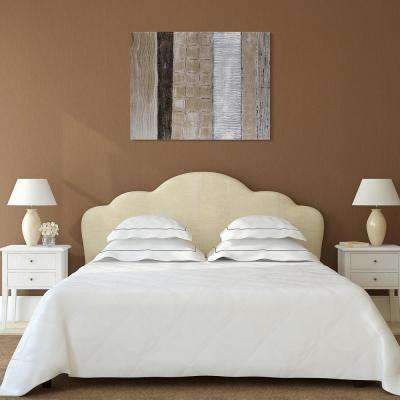 "40 in. x 30 in. ""Damask"" Textured Metallic Hand Painted by Martin Edwards Wall Art"