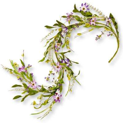 60 in. Purple Flower Garland