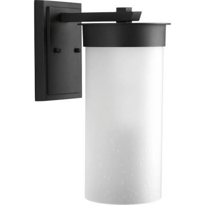 Hawthorne 1-Light Black 16 in. Outdoor Wall Lantern Sconce