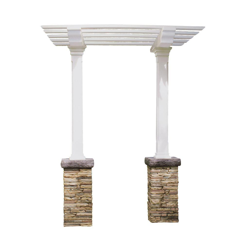 Heritage 103 in. x 36 in. Stacked Stone Beige Single Beam