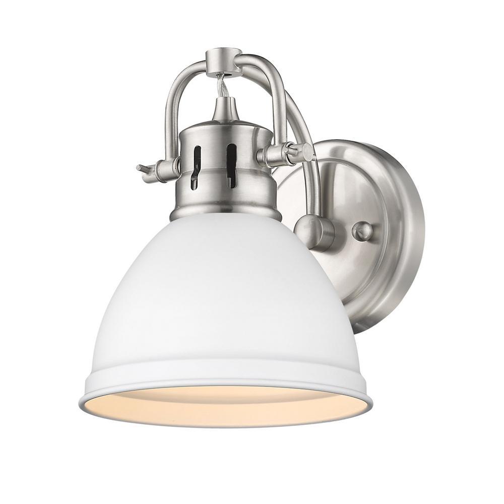 Duncan 4.875 in. 1-Light Pewter Vanity Light