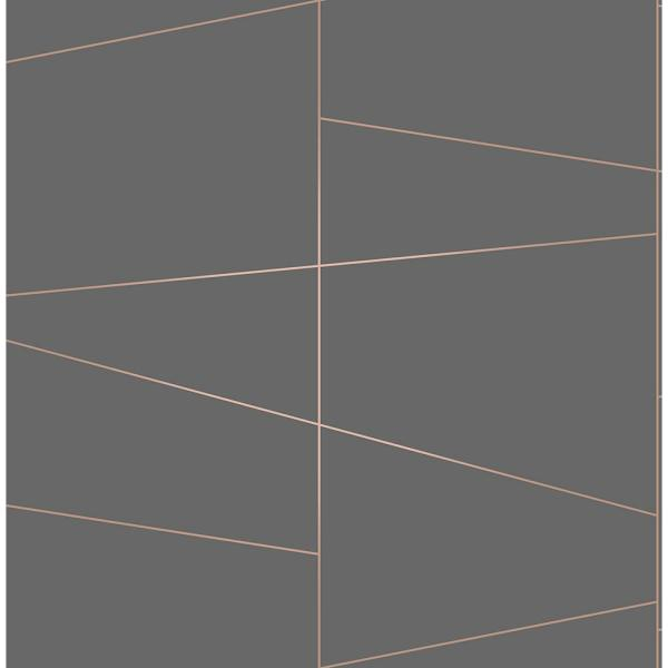 Brewster 8 in. x 10 in. Fairmont Rose Deco Fracture Wallpaper