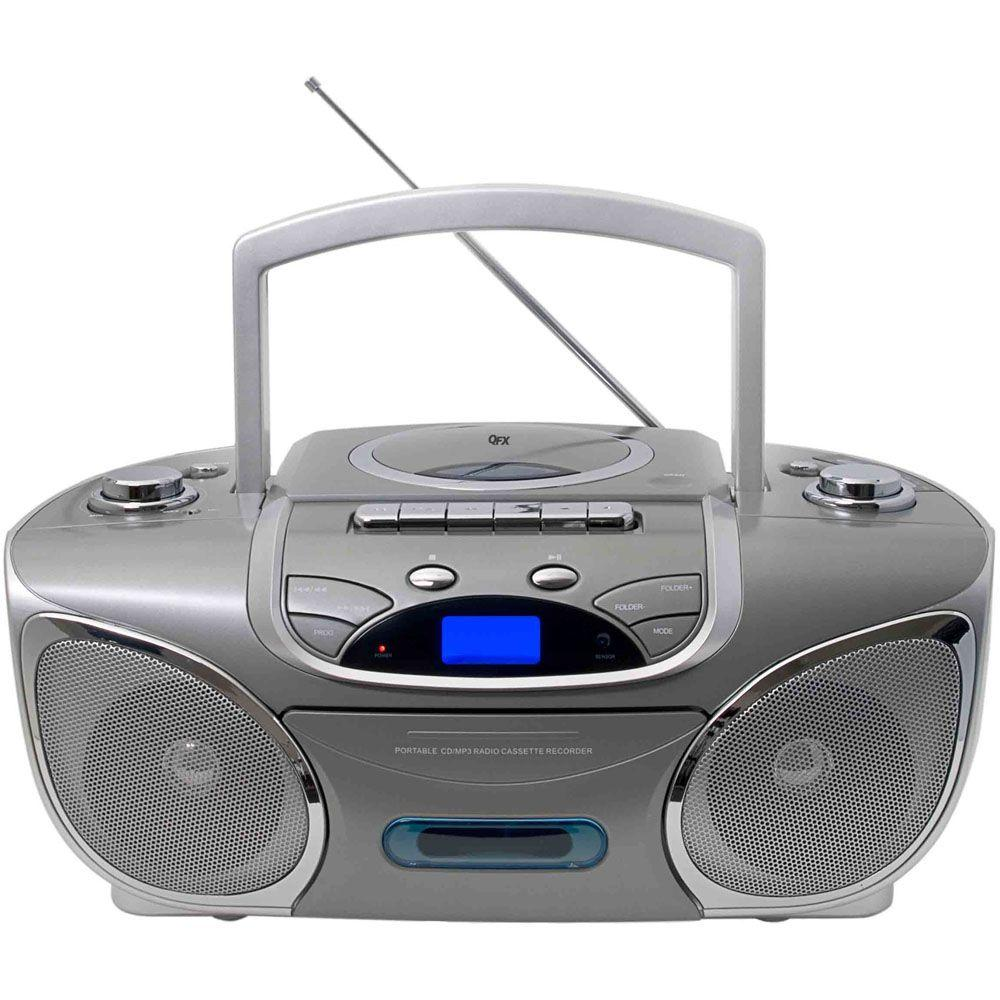 QFX Portable Stereo Radio with CD, MP3 and Cassette Player