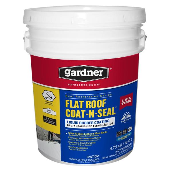 5 Gal. Flat Roof Coat-n-Seal Liquid Rubber Coating