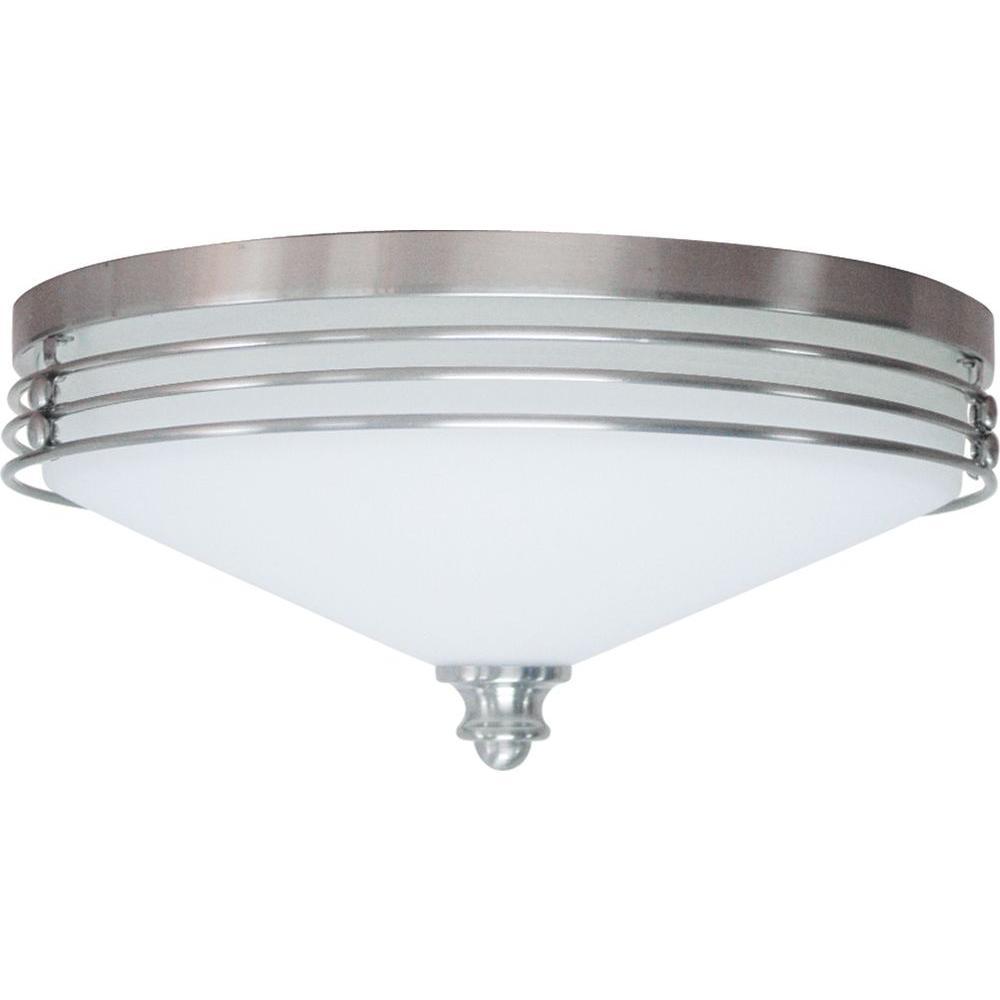 Avila 2-Light Brushed Nickel Flushmount