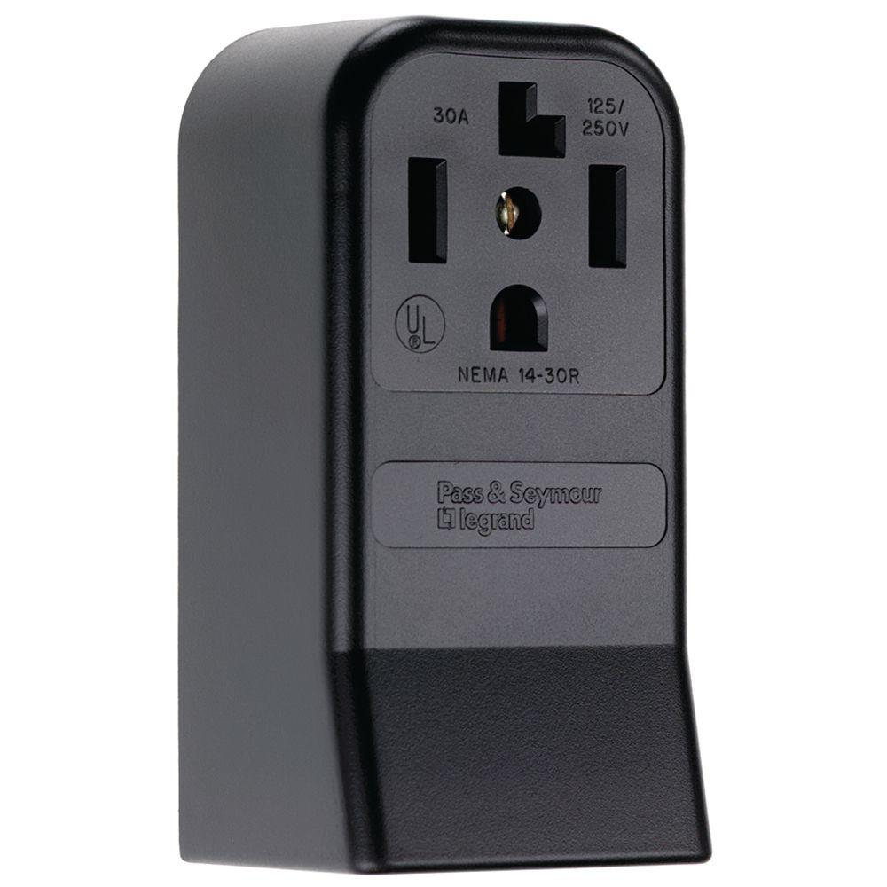 black legrand pass seymour outlets receptacles 3884cc6 64_1000 legrand pass & seymour 30 amp 125 250 volt nema 14 30 14 50r leviton 30a flush mount power outlet wiring diagram at bayanpartner.co