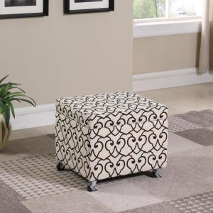 Super Beige Moroccan Heart Black Stencil Filing Storage Ottoman Pdpeps Interior Chair Design Pdpepsorg