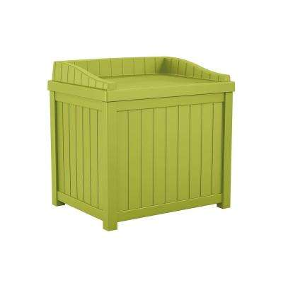 22 Gal. Green Small Storage Seat Deck Box