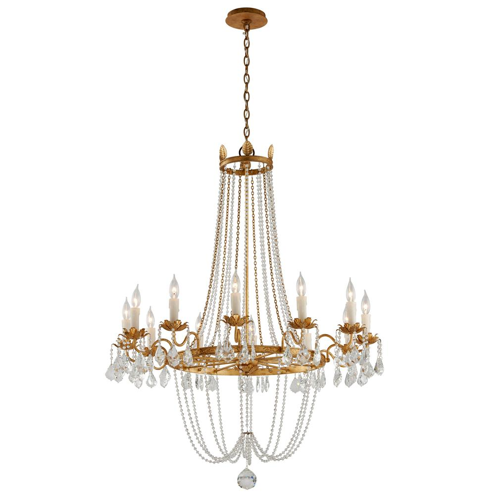 gold leaf chandelier antique the home depot troy lighting viola 12light distressed gold leaf chandelier chandelierf5367