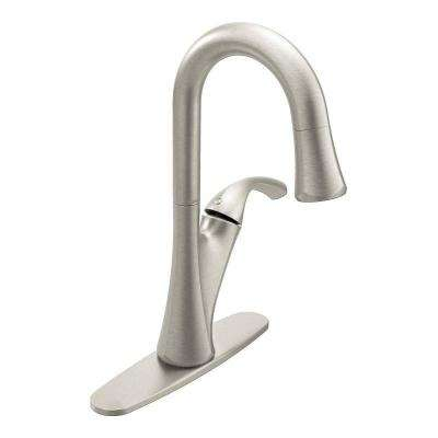 Notch Single-Handle Bar Faucet in Spot Resist Stainless Featuring Reflex
